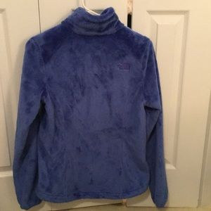 North Face Jackets & Coats - North Face fluffy blue zip up jacket sz S 56654
